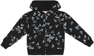 Bonpoint Cherry-print cotton zip-up hoodie
