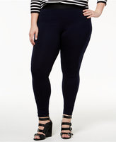 Hue Women's Plus Size High-Waist Ponte Leggings