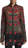 Naeem Khan Floral-Embroidered Jacket