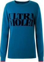 Ultra Violet 100% Merino Wool Slogan Jumper