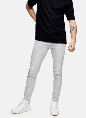 Topman CONSIDERED Light Grey Stretch Skinny Jeans