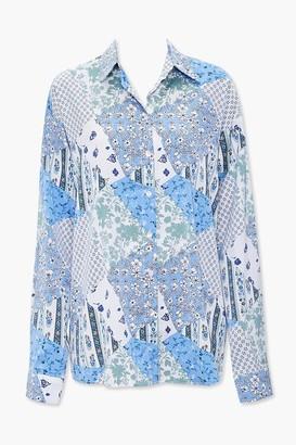 Forever 21 Patchwork Floral Shirt