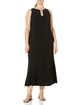 MSK Women's Plus Size Three Ring Maxi Dress