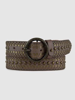Amsterdam Heritage Katya Studded Boho Leather Belt