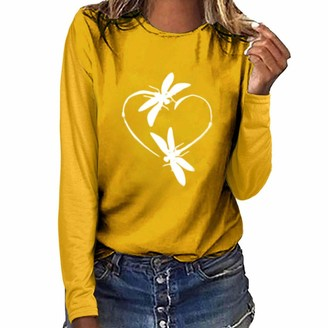 AMhomely Valentine's Gnome Heart Printed Women Short Sleeve O-Neck T-Shirt Top Blouse