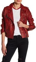 BLANKNYC Denim Leather Moto Jacket