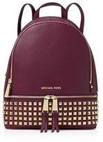 Michael Kors Rhea Studded Leather Zip Small Backpack
