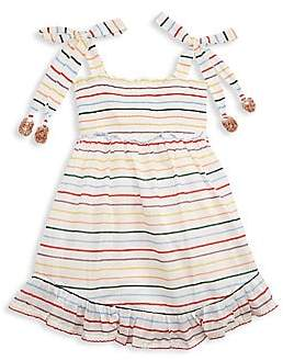Zimmermann Kids Little Girl's & Girl's Zinnia Multicolro Stripe Shirred A-Line Dress