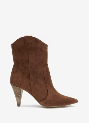 Mint Velvet Cassie Tan Suede Cowboy Boots