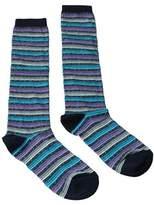 Missoni Gm00cmd5220 0004 Purple/turquoise Knee Length Socks.