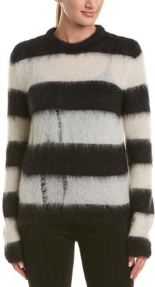 Saint Laurent Fuzzy Mohair-Blend Sweater
