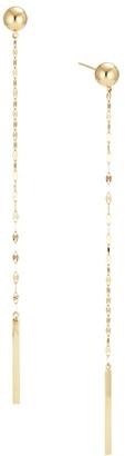 Lana 14K Yellow Gold Ball Linear Drop Earrings