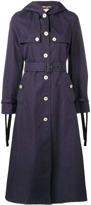 Gucci Hooded Long Trench Coat