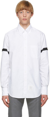 Thom Browne White Oxford Armbands Classic Shirt