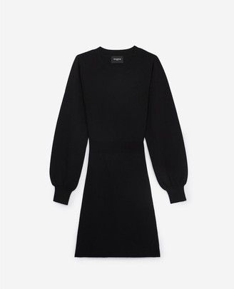 The Kooples Fitted black short knitted dress