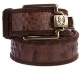 Just Cavalli Embossed Leather Belt