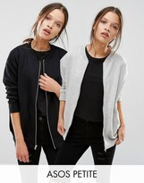 Asos The Ultimate Bomber Jacket In Jersey 2 Pack