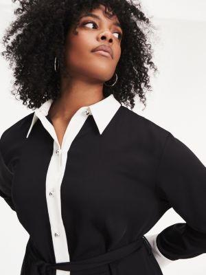 Tommy Hilfiger Zendaya Curve Contrast Collar Dress