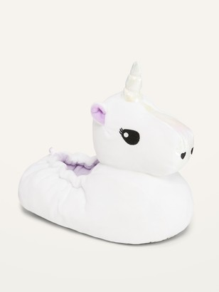 Old Navy Faux-Fur Unicorn-Critter Slippers for Girls