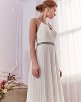 Ted Baker Embellished pleated maxi dress