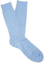 Pantherella Pembrey Ribbed Sea Island Cotton-blend Socks