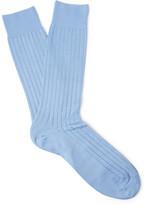 Pantherella Pembrey Ribbed Sea Island Cotton-Blend Socks