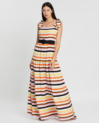 Rebecca Vallance Franklin Tie Maxi Dress