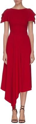 Roland Mouret 'Warren' asymmetric drape ruffle dress