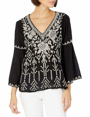 3J Workshop by Johnny was Women's Bell Sleeve Blouse with Embroidery