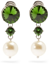 Miu Miu Faux-pearl and crystal clip-on earrings