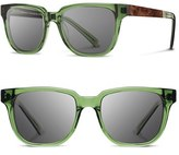 Shwood Men's 'Prescott' 52Mm Acetate & Wood Sunglasses - Emerald/ Elm Burl/ Grey
