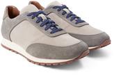 Loro Piana Weekend Walk Two-tone Suede Sneakers - Beige