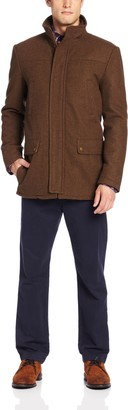 Kenneth Cole Reaction Men's Heathered-Wool Barn Jacket XX-Large