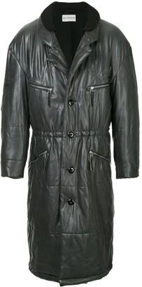 Issey Miyake Pre Owned Midi Puffer Coat