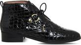 Office Larkin croc-embossed leather boots