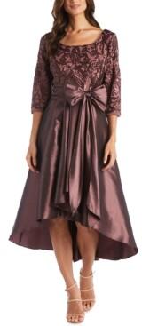 R & M Richards Sequin-Top High-Low Dress