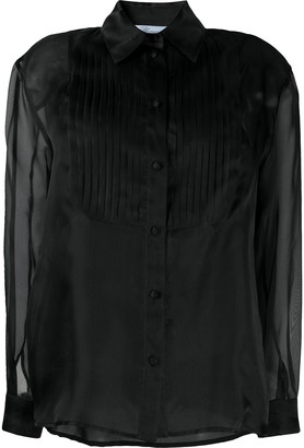 Blumarine Pelated-Bib Blouse
