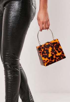 Missguided Brown Leopard Print Triangular Bag