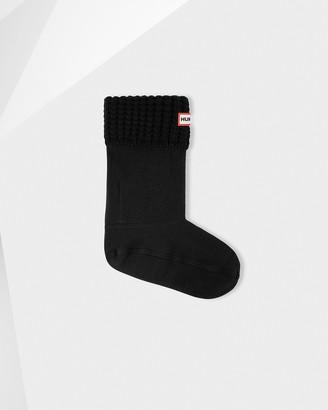 Hunter Original Waffle Cuff Short Boot Socks