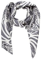 Thomas Wylde Abstract Print Silk Scarf
