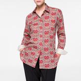 Paul Smith Women's 'Paisley Heart' Print Cotton Shirt