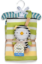 Bed Bath & Beyond Lolli Living(TM) by Living Textiles Baby Cotton Knitted Blanket & Rattle Toy - Phin Penguin