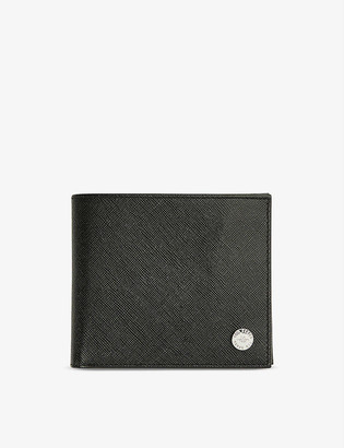 Ted Baker Rug saffiano leather bifold wallet
