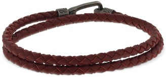 Marco Dal Maso Double Wrap Braided Leather Bracelet