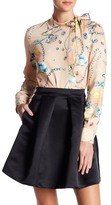 Love Moschino Space Jewels Print Tie Neck Blouse