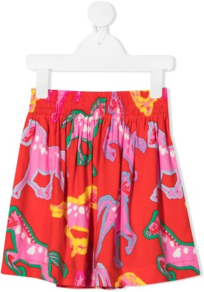 Stella Mccartney Kids Horse Print Skirt