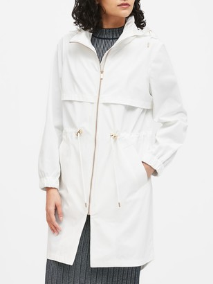 Banana Republic Petite Water-Repellent Long Rain Jacket