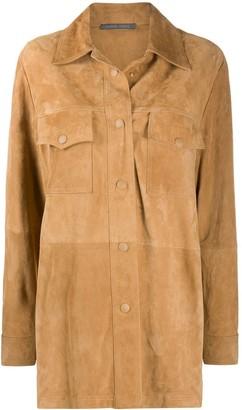 Alberta Ferretti Panelled Leather Jacket