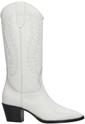Paris Texas Texan Boots In White Leather