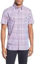 Ted Baker Men's 'Vacuate' Extra Trim Fit Check Short Sleeve Sport Shirt